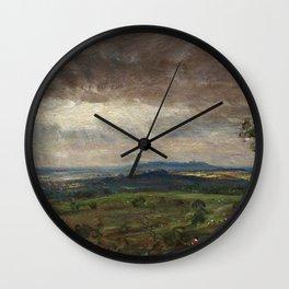 """John Constable """"Hampstead Heath looking towards Harrow"""" (3) Wall Clock"""