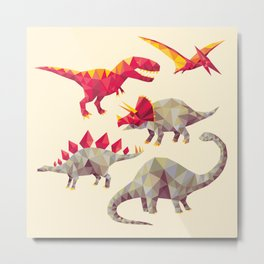 GeoSaurs Metal Print