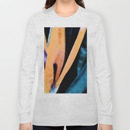 Bird of paradise flower Watercolor Long Sleeve T-shirt
