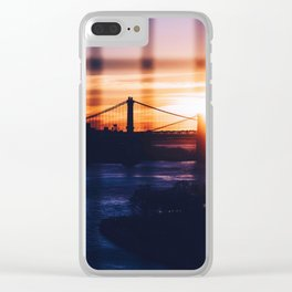 New York bridge Clear iPhone Case