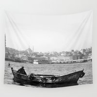 boat Wall Tapestries featuring Boat by kartalpaf