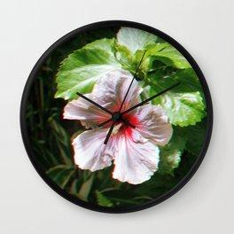 Hawaiian Flower Wall Clock