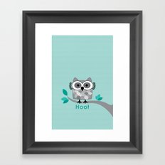 Hoot - Owl in a Tree Framed Art Print