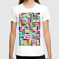 doors T-shirts featuring Doors - White by Finlay McNevin