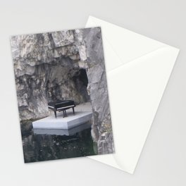 Piano in marble canyon (Ruskeala mining park) Stationery Cards
