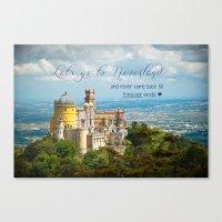 neverland Canvas Prints featuring Neverland by Sandy Broenimann