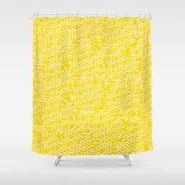 Microchip Pattern (Yellow) Shower Curtain