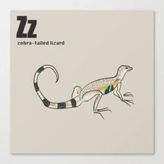 zebra-tailed lizard Canvas Print