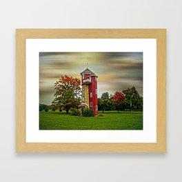 Autumn Water Tower Framed Art Print