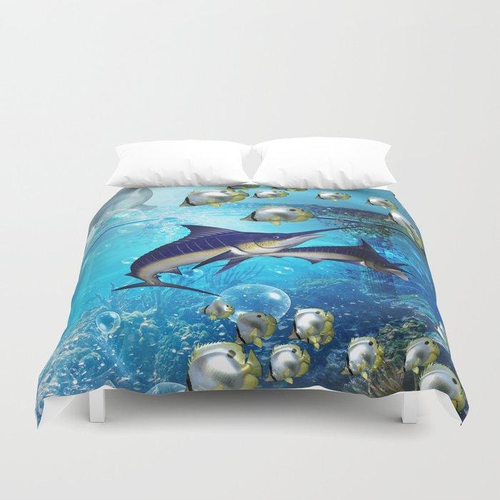 Underwater world Duvet Cover