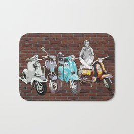 Twiggy at the Scooter Rally Bath Mat