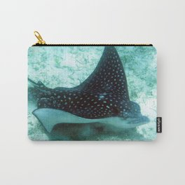 Watercolor Ray, Spotted Eagle Ray 36, St John, USVI Carry-All Pouch