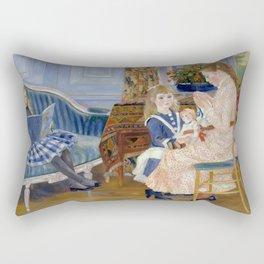 """Auguste Renoir """"L'après-midi des enfants à Wargemont (The childrens' afternoon at W.) Rectangular Pillow"""
