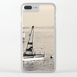 New York's Hudson River - Sepia-toned Photography Clear iPhone Case