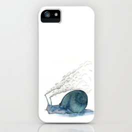 Escargot fumant iPhone Case