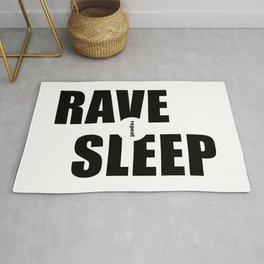 Rave Sleep Repeat Rug