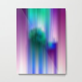 Glitchy Tiles - Abstract Pixel art Metal Print