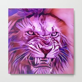 Lion - King of The Beasts Metal Print