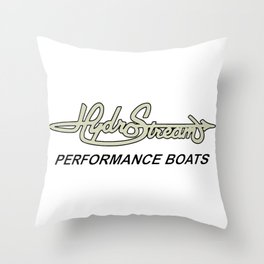 Hydrostream Boats Throw Pillow