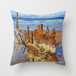 Beached Remains Throw Pillow