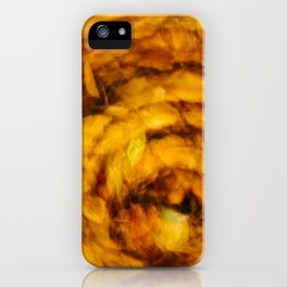 Fall Leaves Long Exposure Motion Abstract iPhone Case