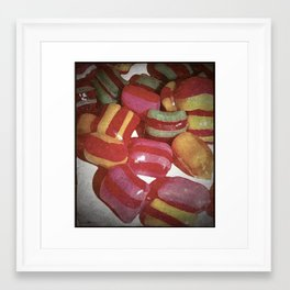 RETRO COLOURED CANDY  Framed Art Print
