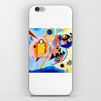 kandinsky iPhone & iPod Skins featuring Yellow Red Blue - Tribute to Kandinsky by ArtvonDanielle