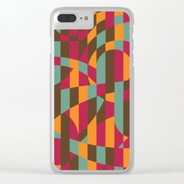 Abstract Graphic Art - Roller Coaster Clear iPhone Case