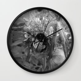 Bee Friends #2 (Black and White) Wall Clock
