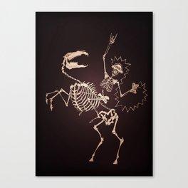 Skeleton Shock Rock Canvas Print