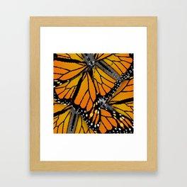 MONARCH BUTTERFLIES MONTAGE NATURE DESIGN Framed Art Print