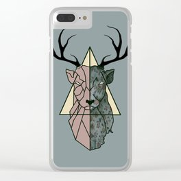 geometric patronus Clear iPhone Case