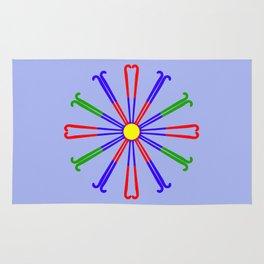 Field Hockey Stick Design Rug