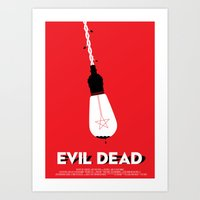 evil dead Art Prints featuring Evil Dead by Let's Kiss To Make It Real