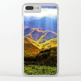 New England Autumn Clear iPhone Case