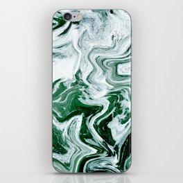 Green Ocean Marble iPhone Skin
