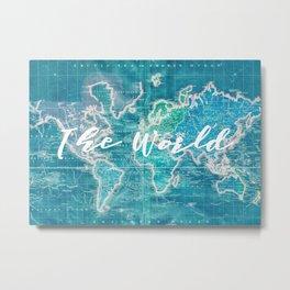 The World Metal Print