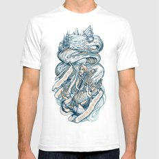 Life & Love at Sea White Mens Fitted Tee SMALL