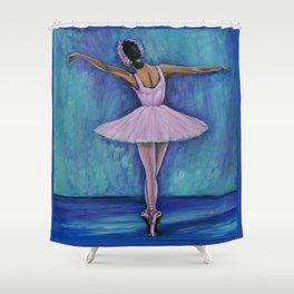 Young Ballerina Rosa Shower Curtain