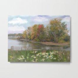 Lasting Autumn Flowers Metal Print