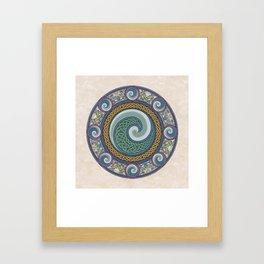 Ninth Wave Shield Framed Art Print