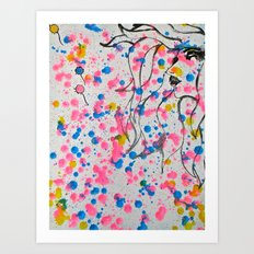 Blowing Dandelions  Art Print