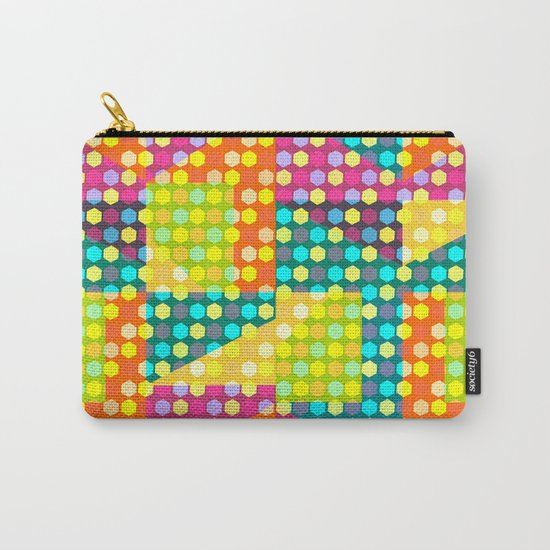 Colorful hexagons Carry-All Pouch