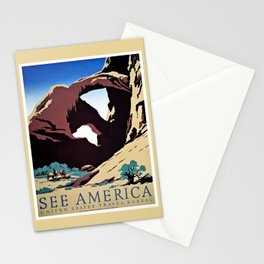 See America travel ad Stationery Cards