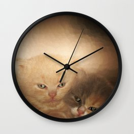 kittens Love Wall Clock