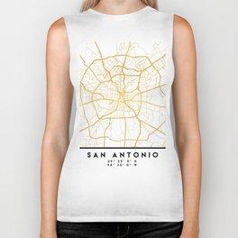 SAN ANTONIO TEXAS CITY STREET MAP ART Biker Tank