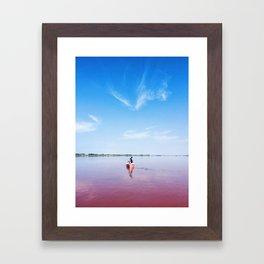 The Pink Lake Print Framed Art Print