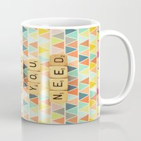all you need is love Mugs featuring Love is All You Need by happeemonkee