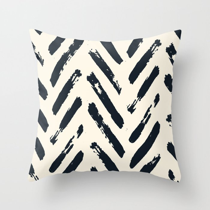 Retro Chevron Pattern 02 Throw Pillow