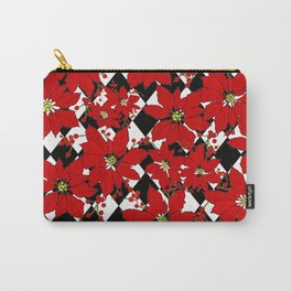HARLEQUIN AND POINSETTIAS Carry-All Pouch